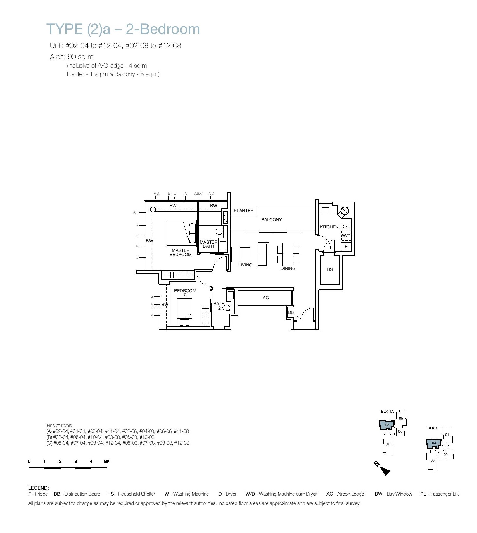 One Balmoral 2 Bedroom Floor Type (2)a Plans