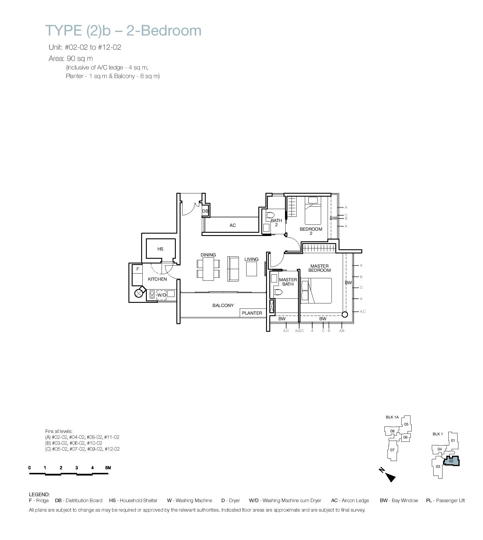 One Balmoral 2 Bedroom Floor Type (2)b Plans