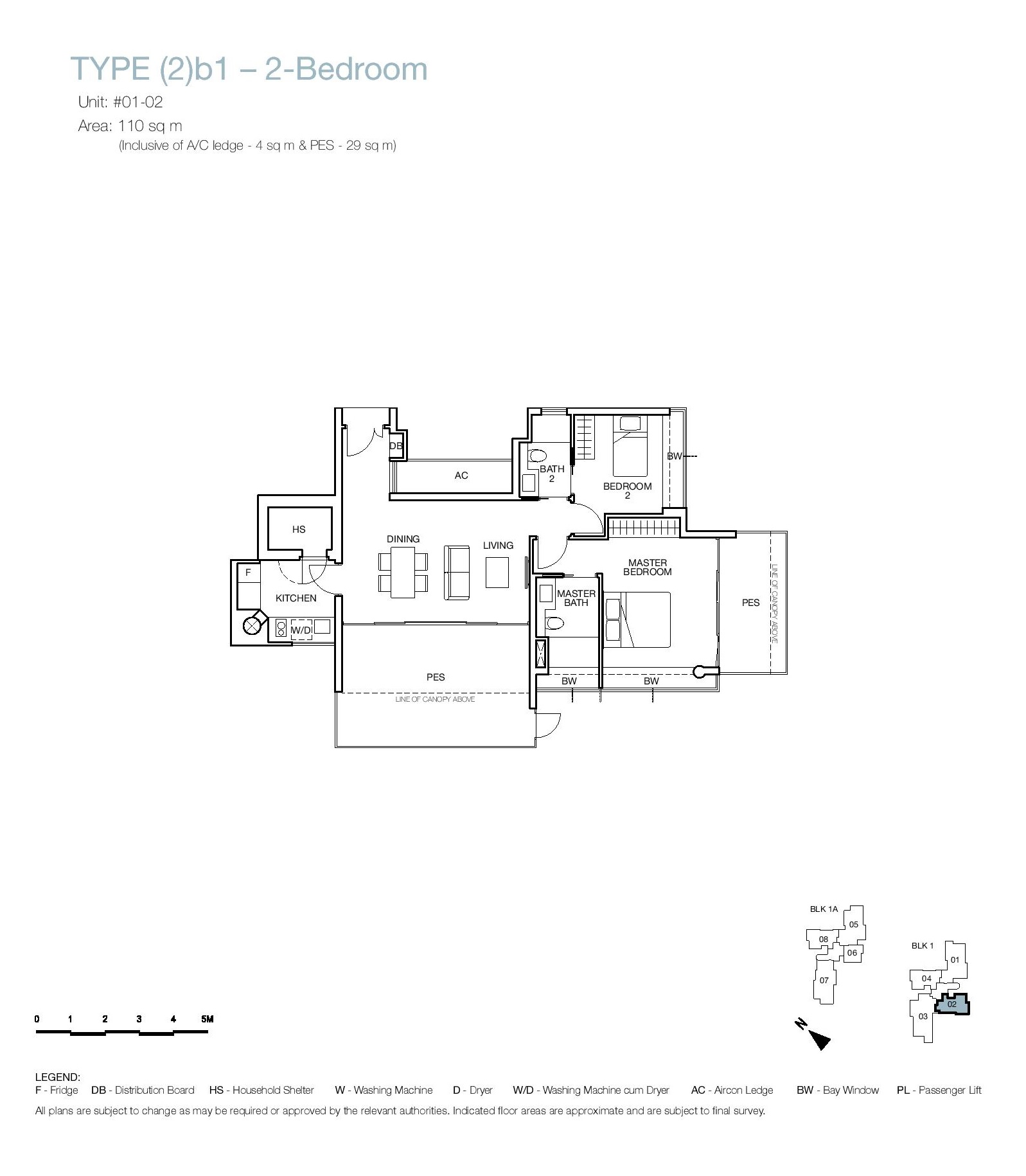 One Balmoral 2 Bedroom Floor Type (2)b1 Plans