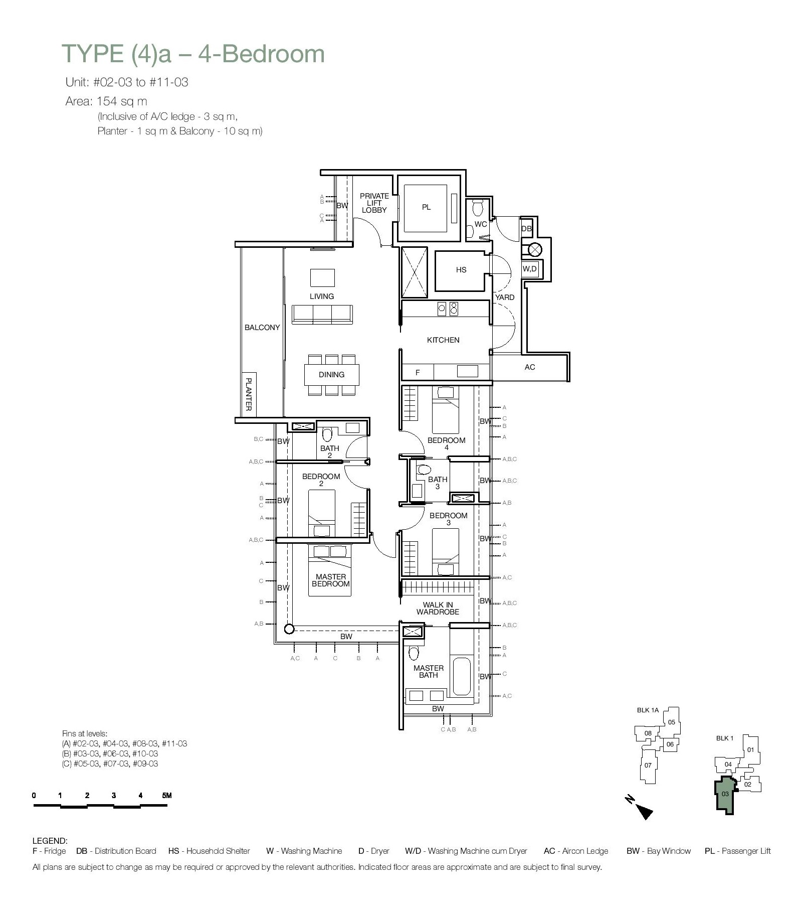One Balmoral 4 Bedroom Floor Type (4)a Plans