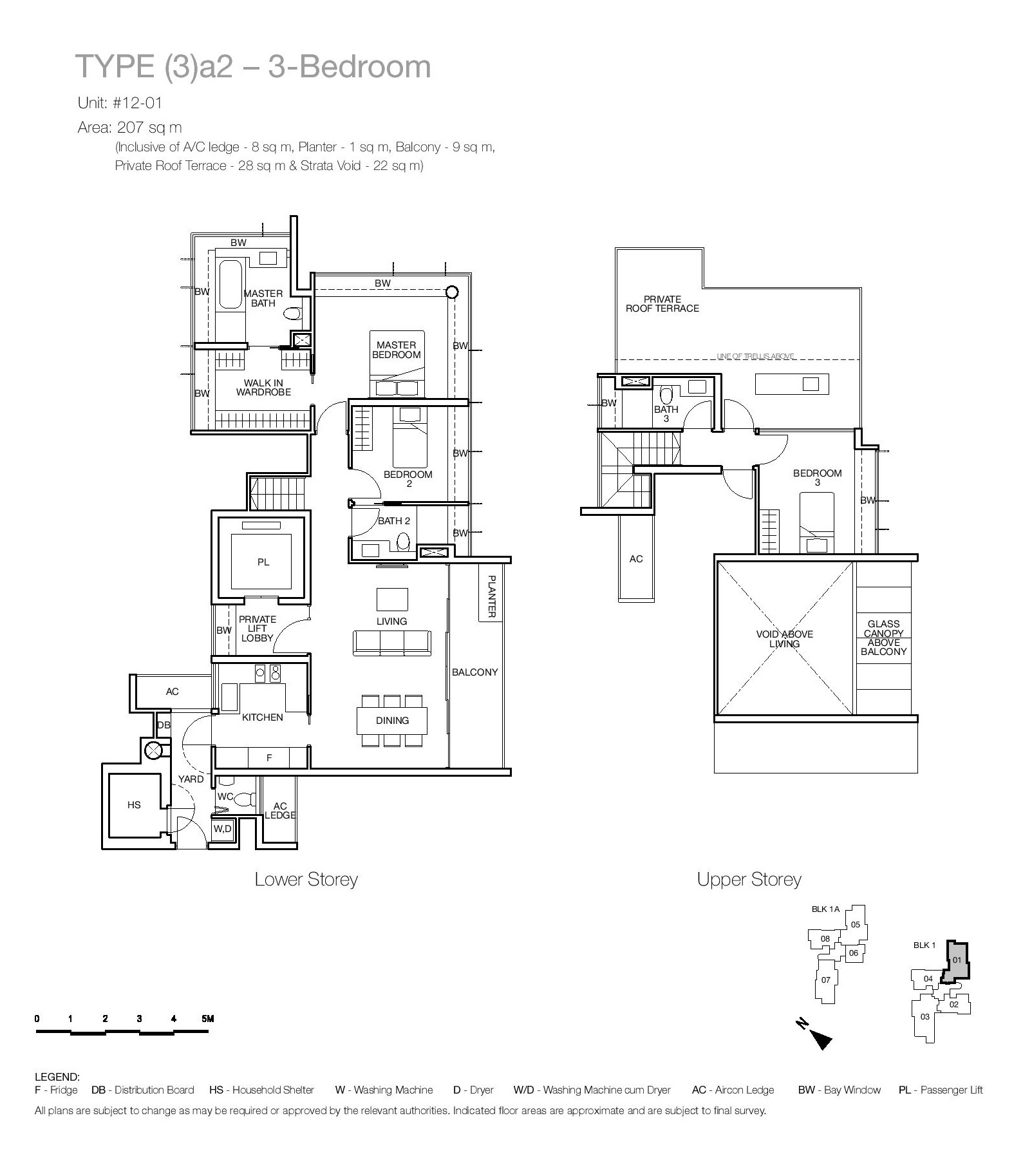 One Balmoral 3 Bedroom Floor Type (3)a2 Plans