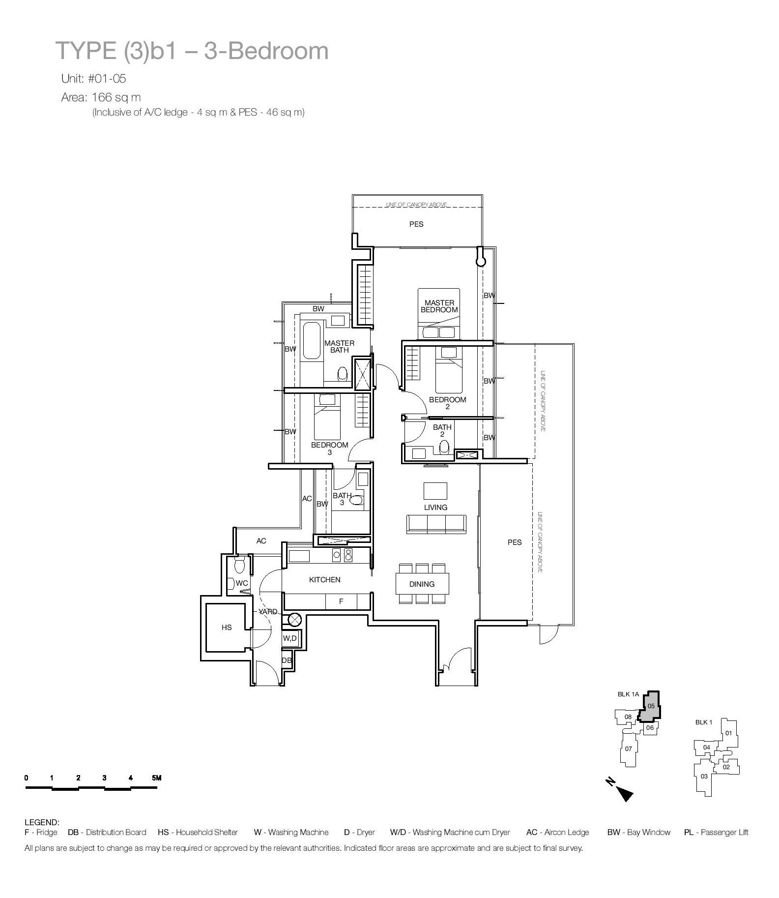 One Balmoral 3 Bedroom Floor Type (3)b1 Plans