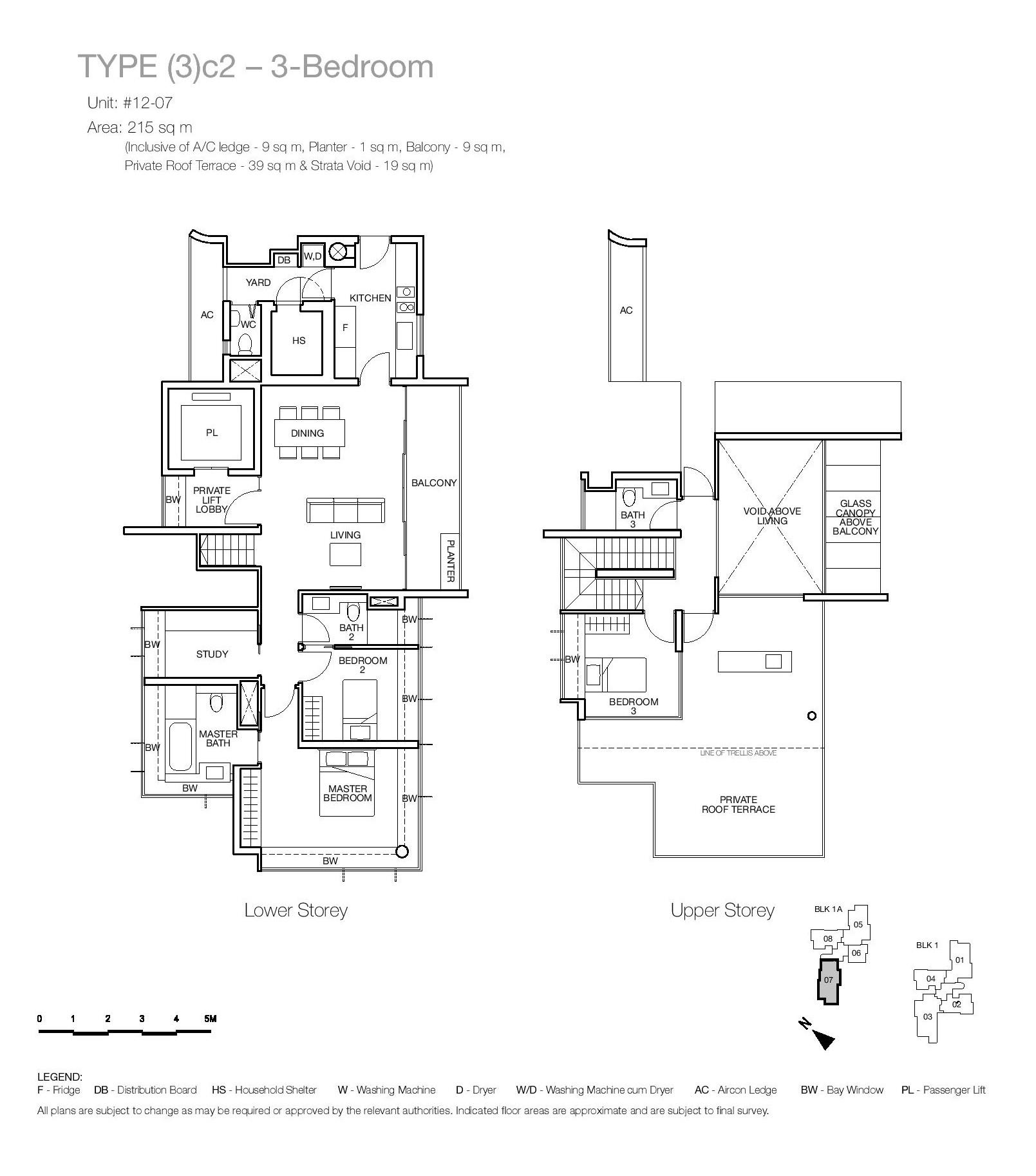 One Balmoral 3 Bedroom Floor Type (3)c2 Plans