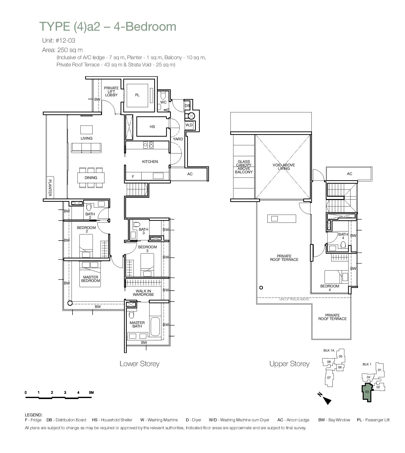 One Balmoral 4 Bedroom Roof Terrace Floor Type (4)a2 Plans