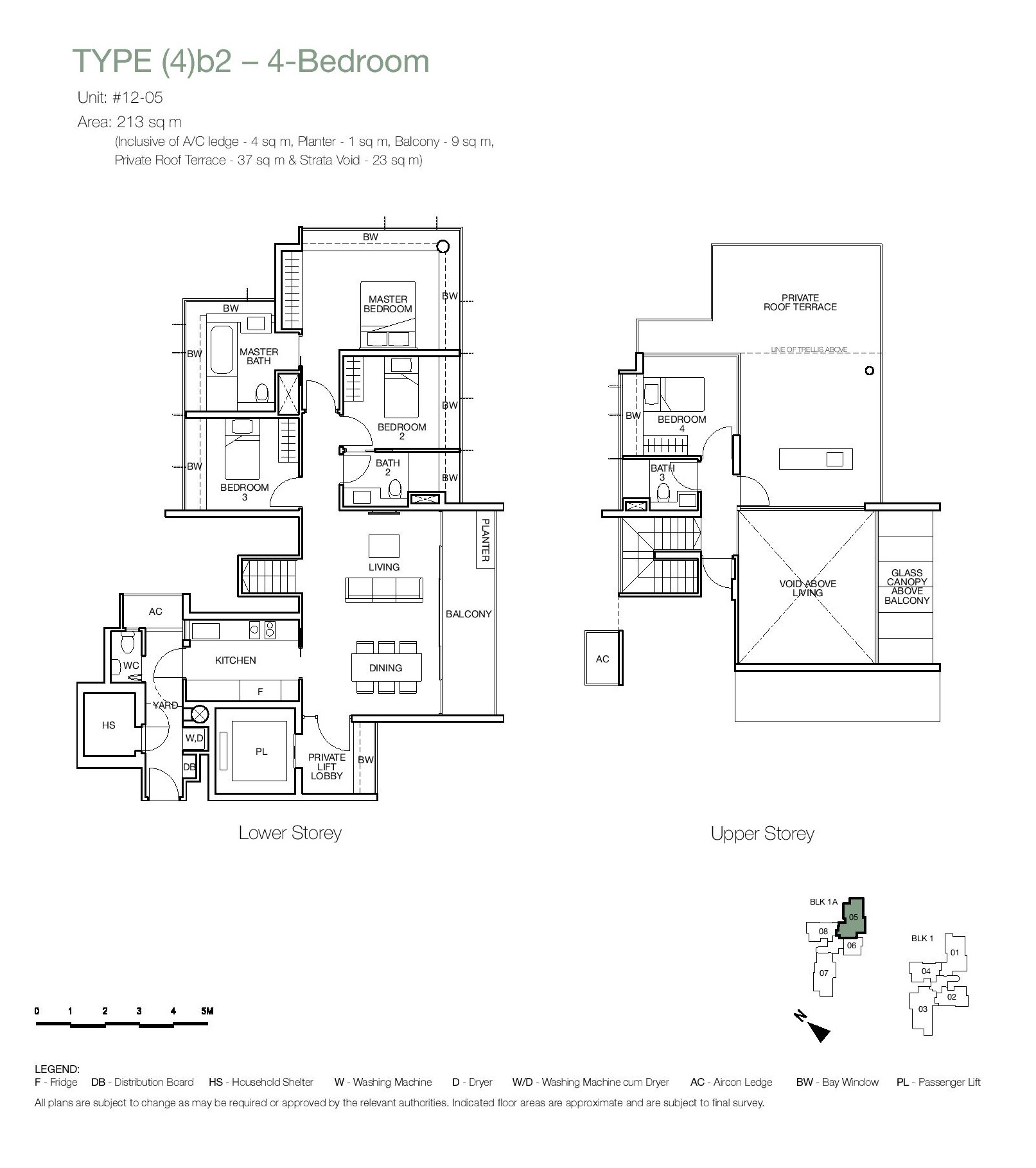 One Balmoral 4 Bedroom Roof Terrace Floor Type (4)b2 Plans