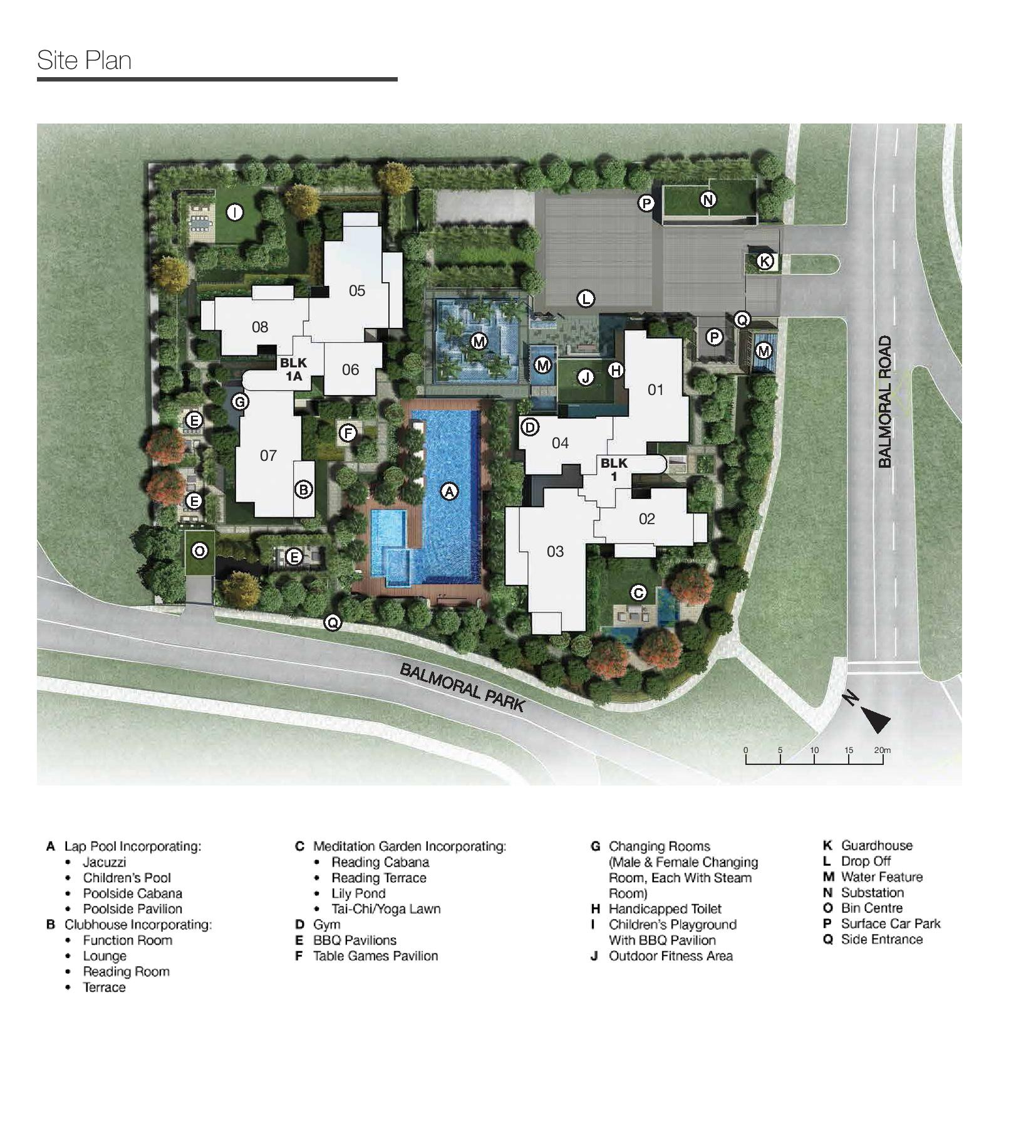 One Balmoral Site Map